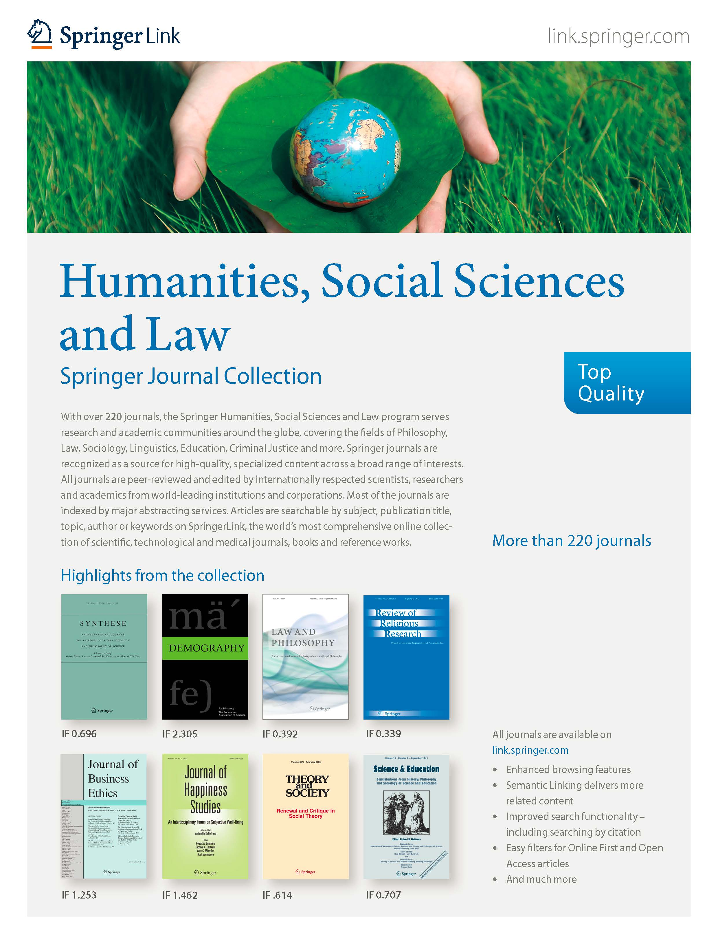 Humanities, Social Sciences & Law