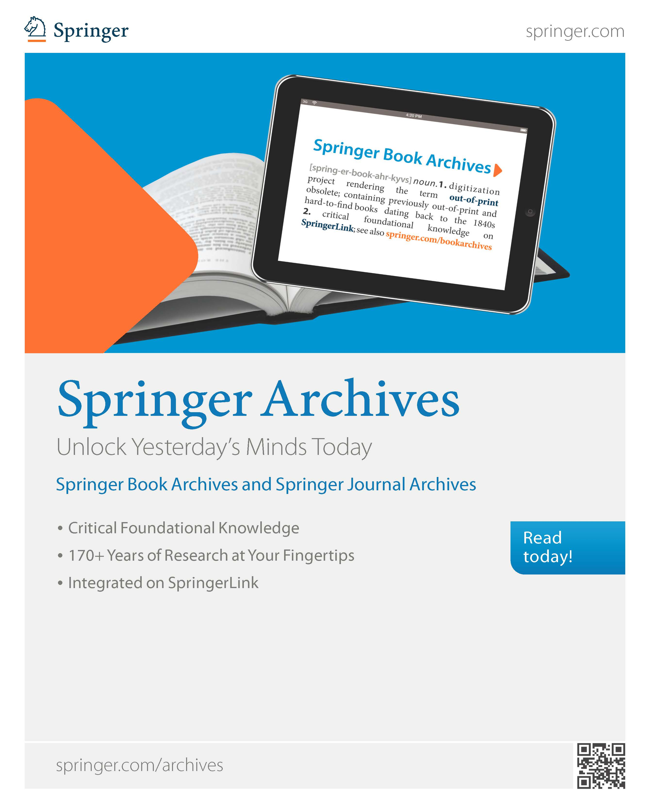 Springer Archives Brochure
