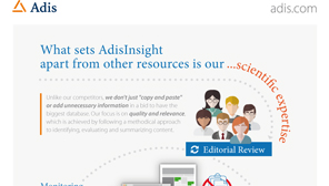 Why choose AdisInsight?