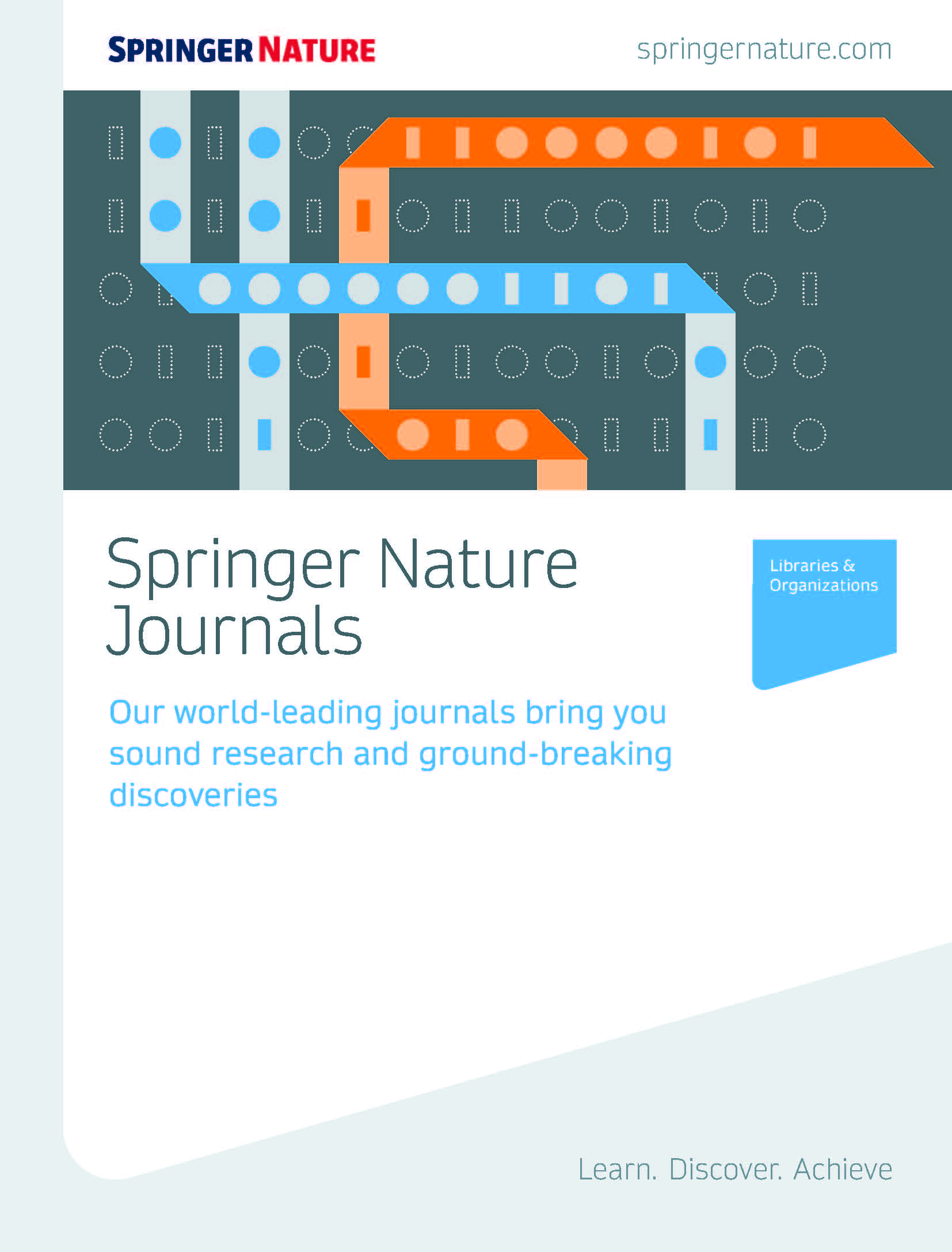 Springer Nature journals brochure