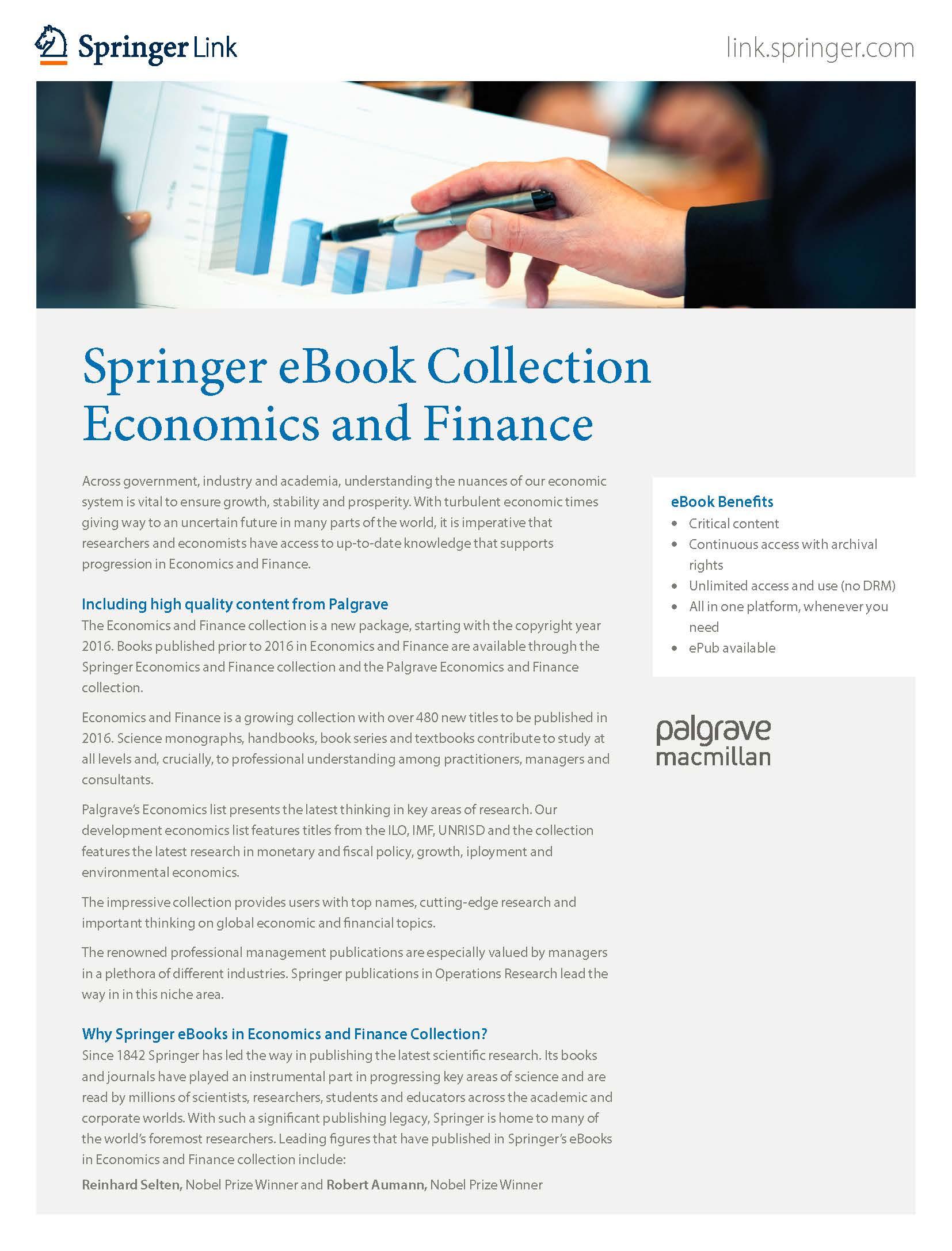 eBooks collection Economics & Finance