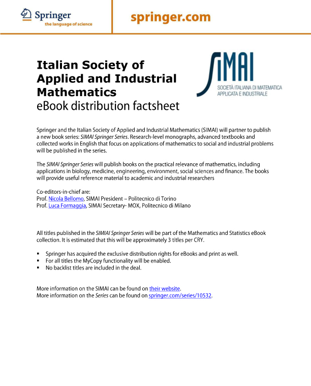 Italian Society of Applied and Industrial Mathematics
