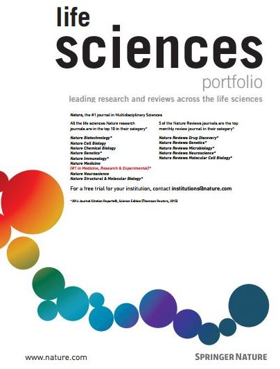 Nature Research Life Science portfolio
