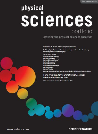 Nature Research Physical Science portfolio