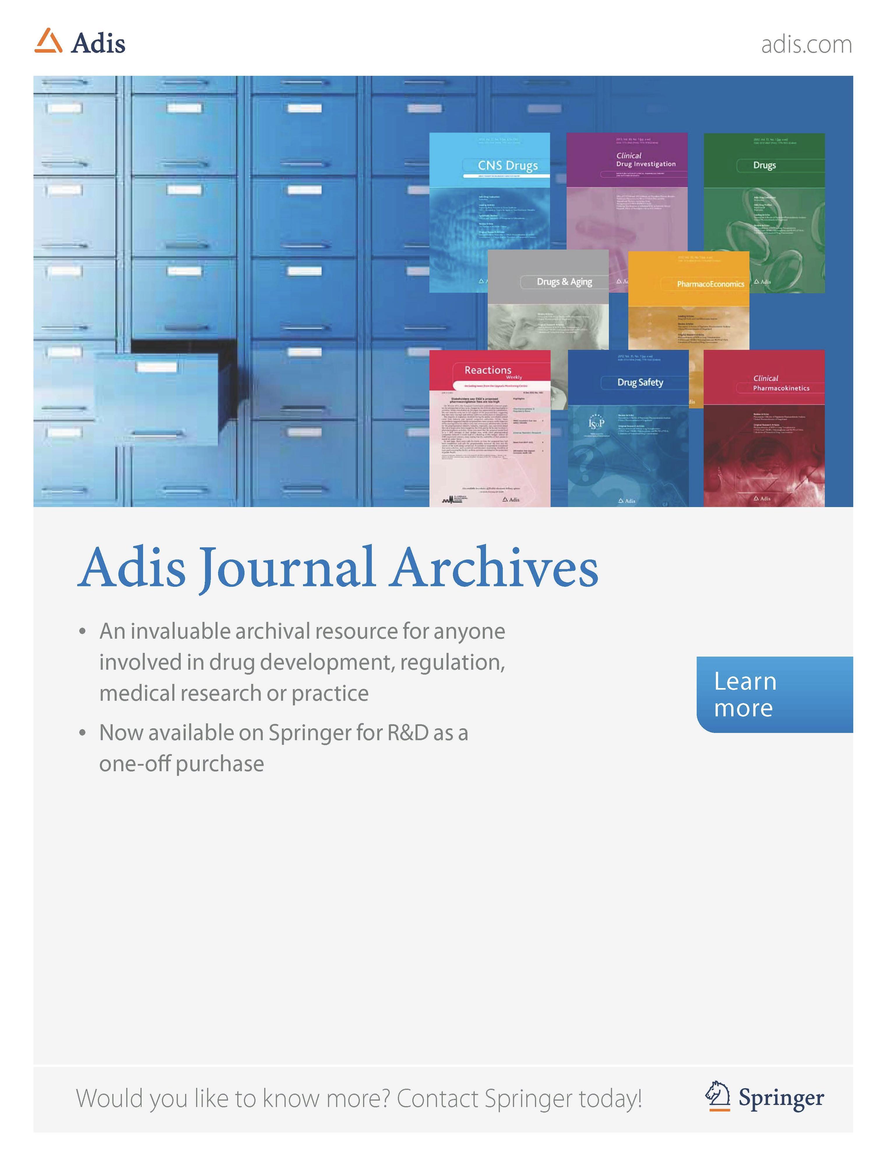 Adis journal archives