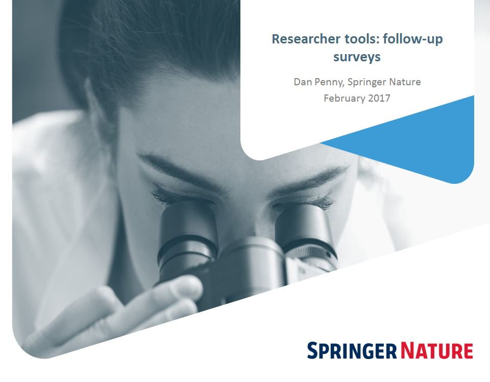 Researcher tools: Follow up survey - Dan Penny, Springer Nature