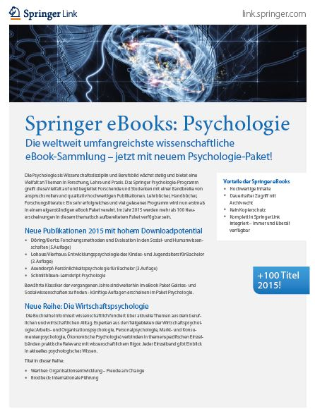 Springer eBooks-Kollektion Psychologie