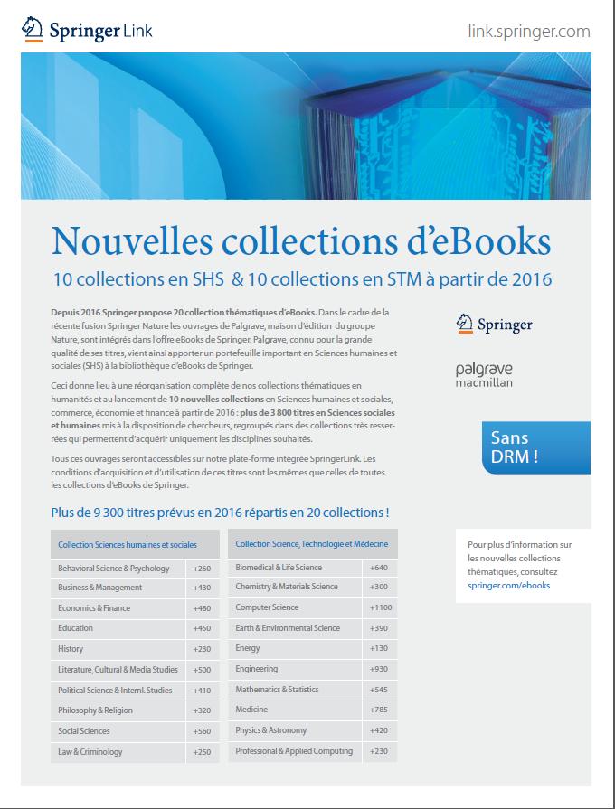 Nouvelles collections d'eBooks