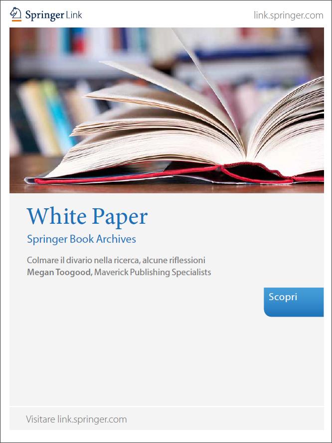 White Paper Springer Book Archives - Colmare il divario nella ricerca, alcune riflessioni