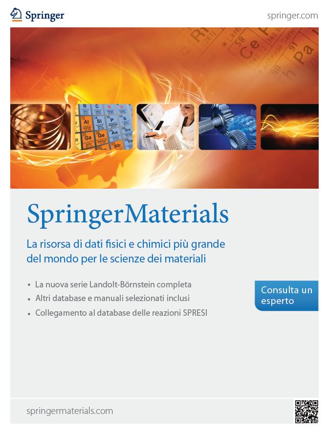 SpringerMaterials - La risorsa di dati fisici e chimici più grande del mondo per le scienze dei materiali