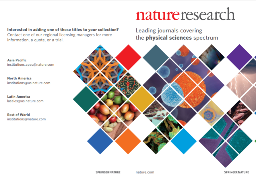 Physical Sciences journals brochure
