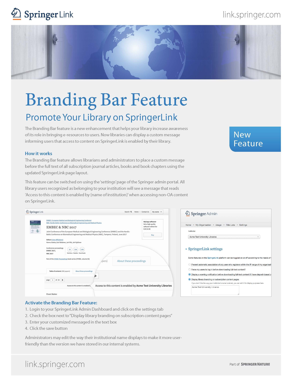 SpringerLink Branding Bar
