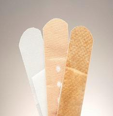 Set of three medical adhesive plasters with different purposes © IntelWond / stock.adobe.com