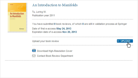 Upload your book review © Springer