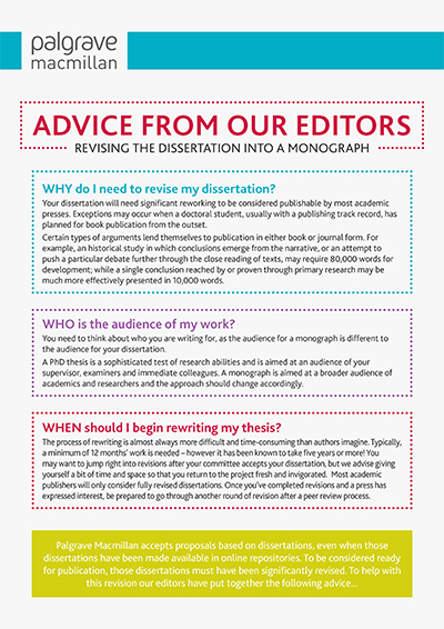 Advice from editors