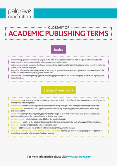 Glossary of Publishing Terms