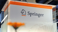 Press Photo Springer Logo on Column